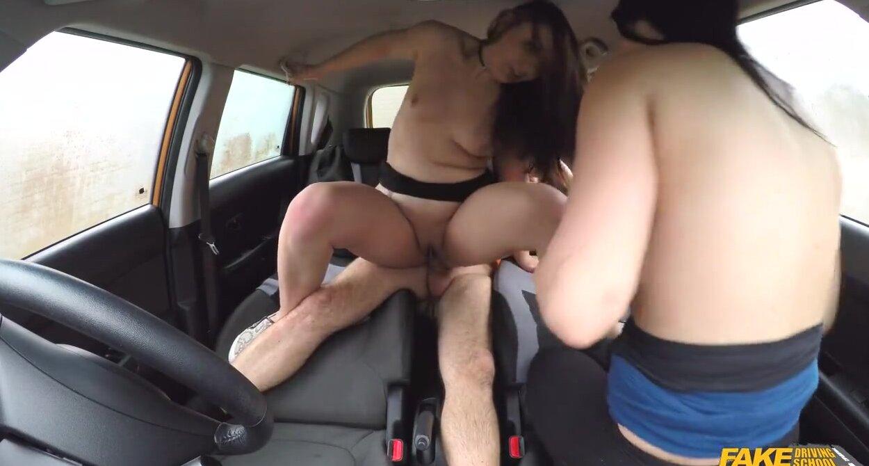 Amateur Lesbians Playing Car