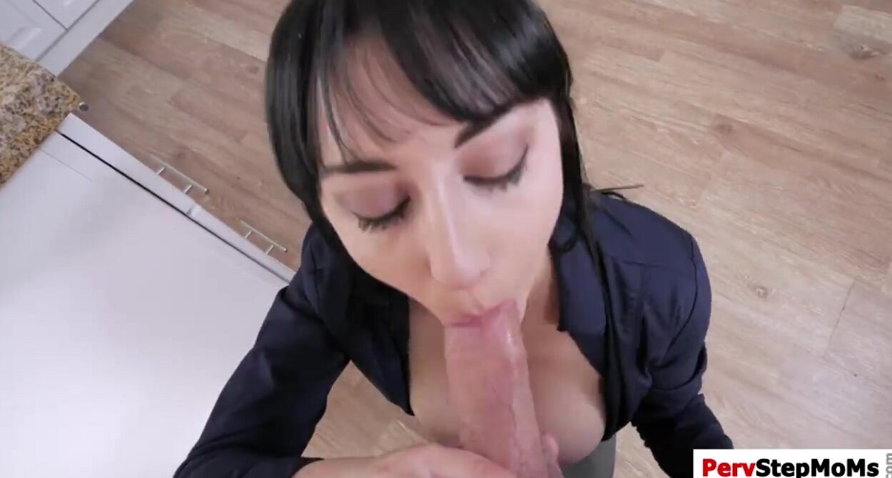 Stepmom Gives Stepson Handjob