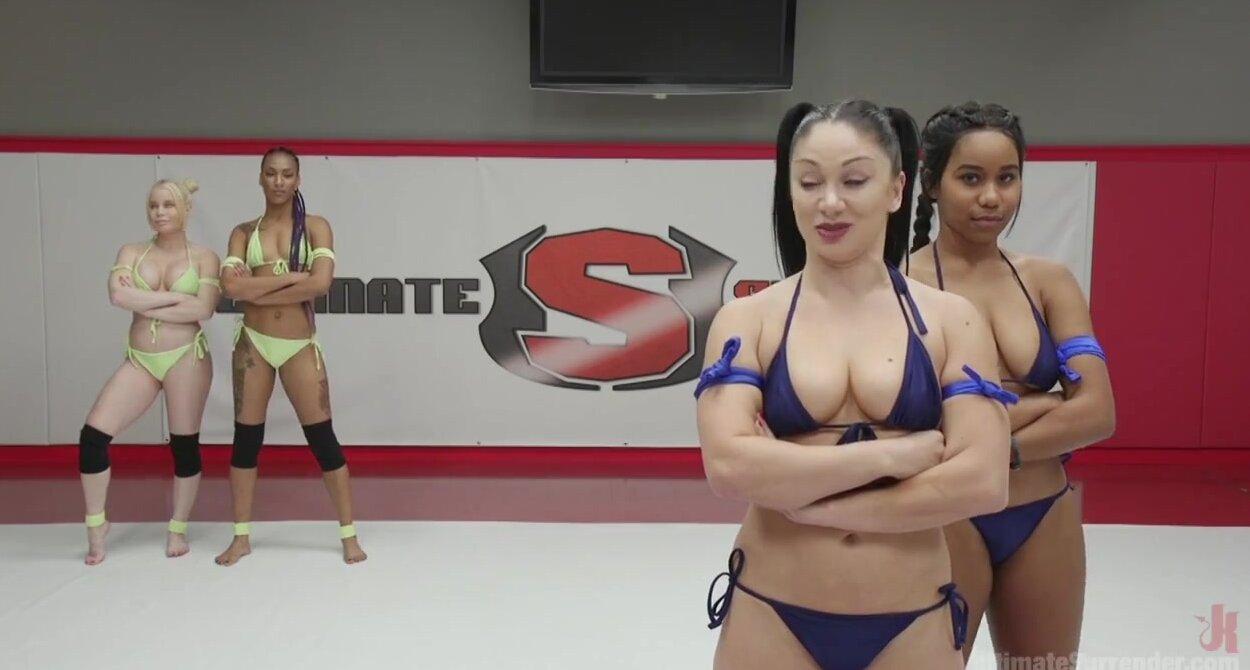 Big Booty Lesbian Wrestling
