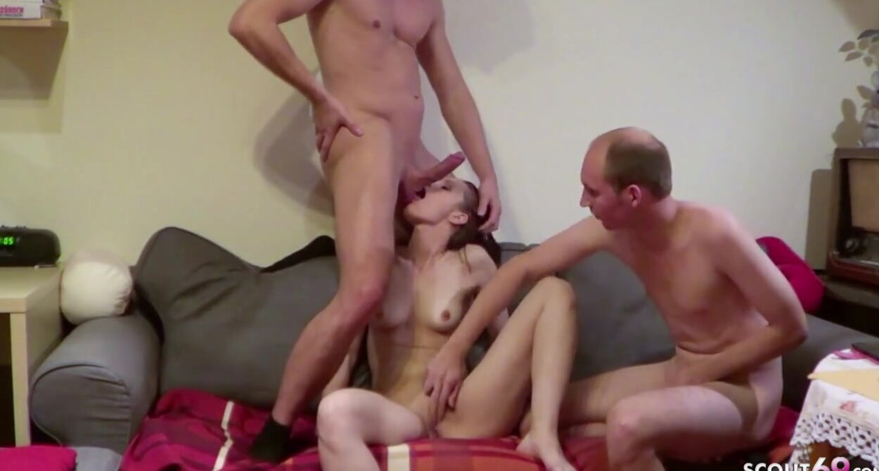 Euro Teen Anal Threesome