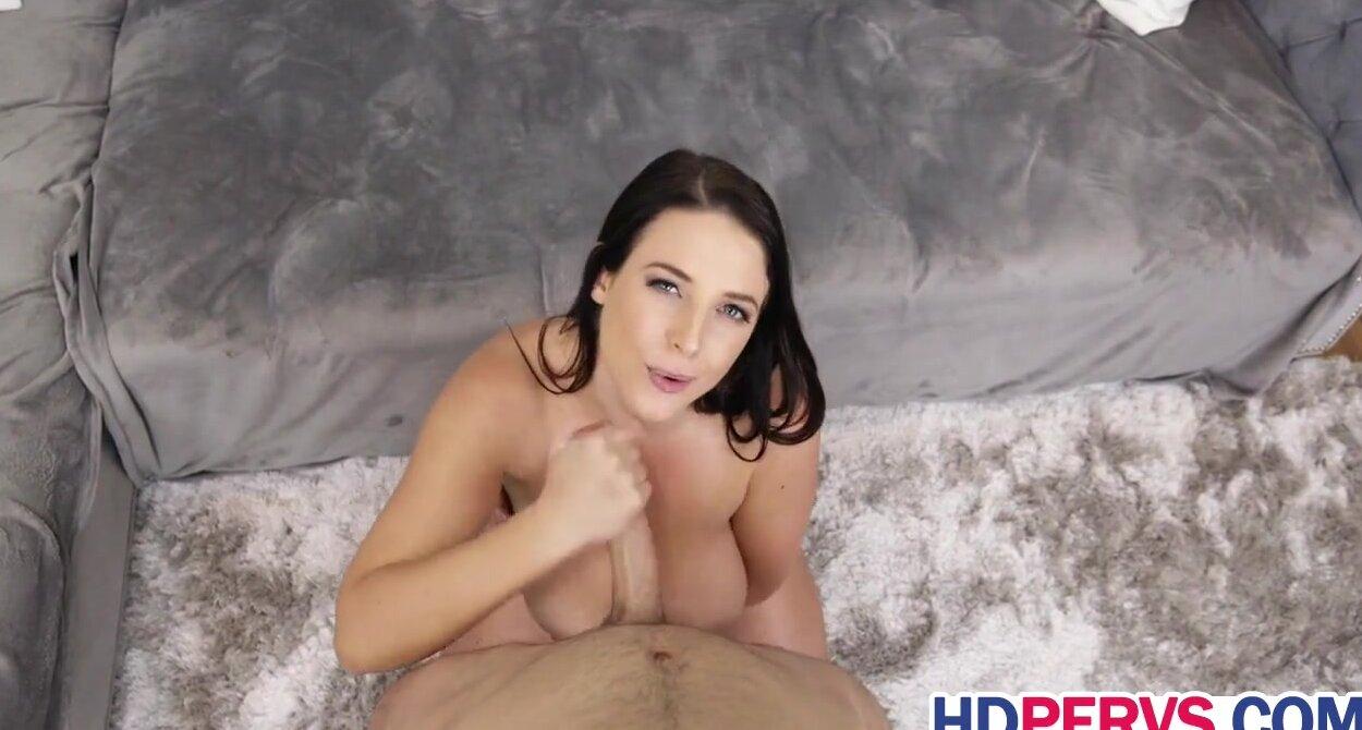 Angela White Porn Lesbian In The Beach busty angela white gives handjob and titjob
