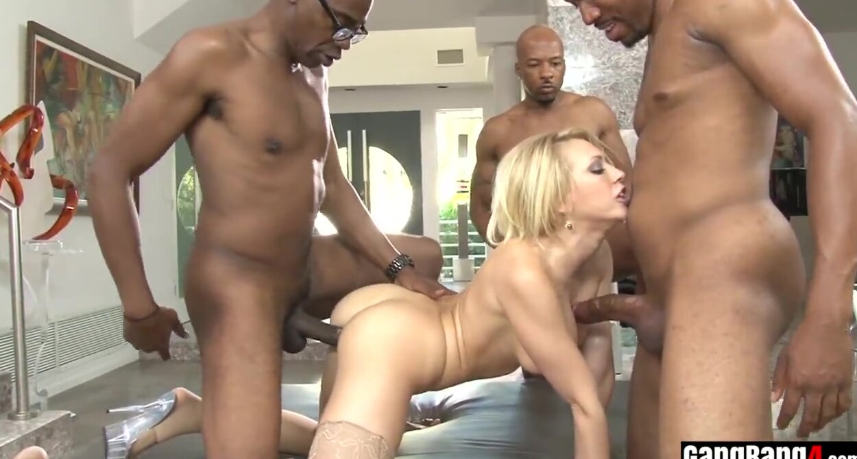 White Girl Asian Gangbang