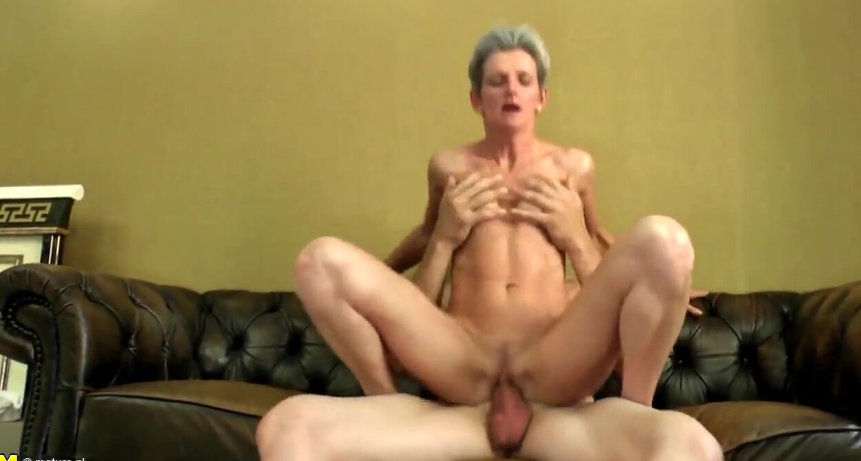 Mum Moie Porn Mature mature skinny mom suck and fuck young boy's cock