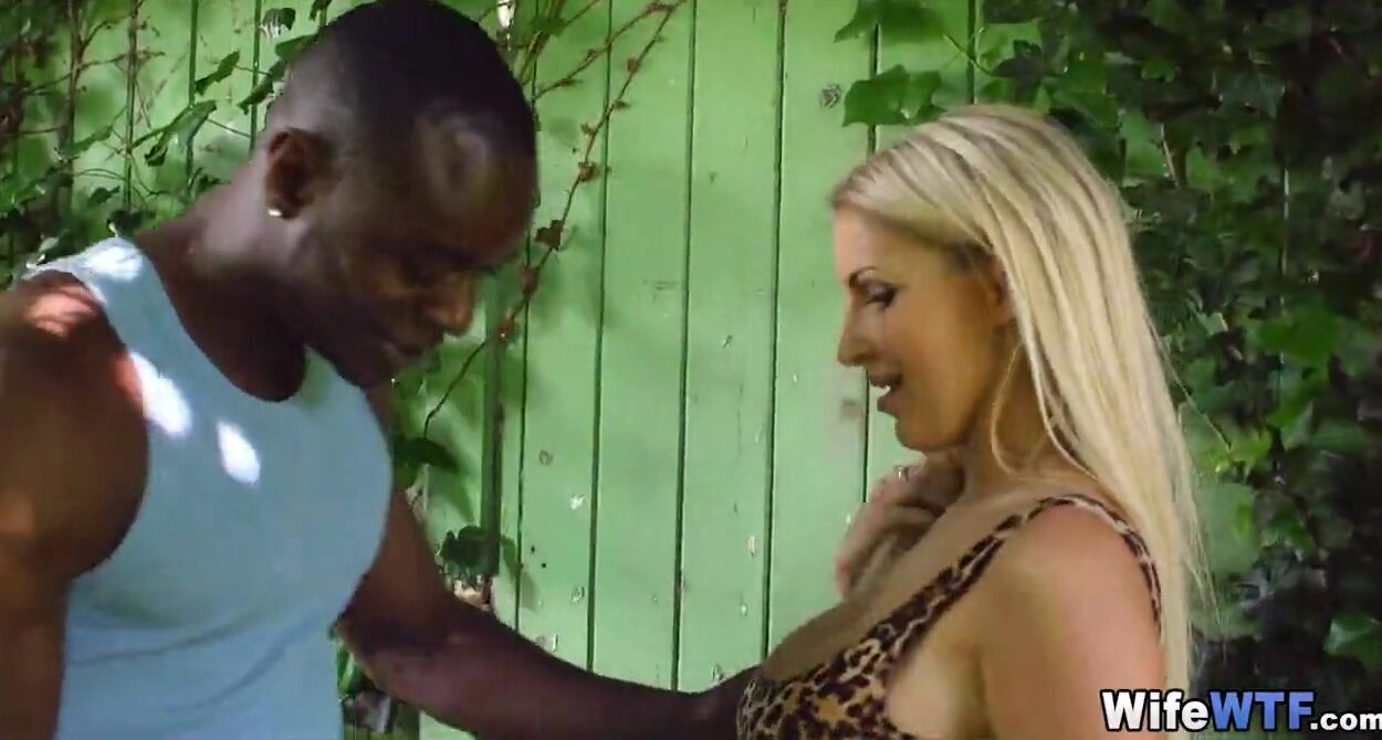 Blonde Wife Sucks Black Cock