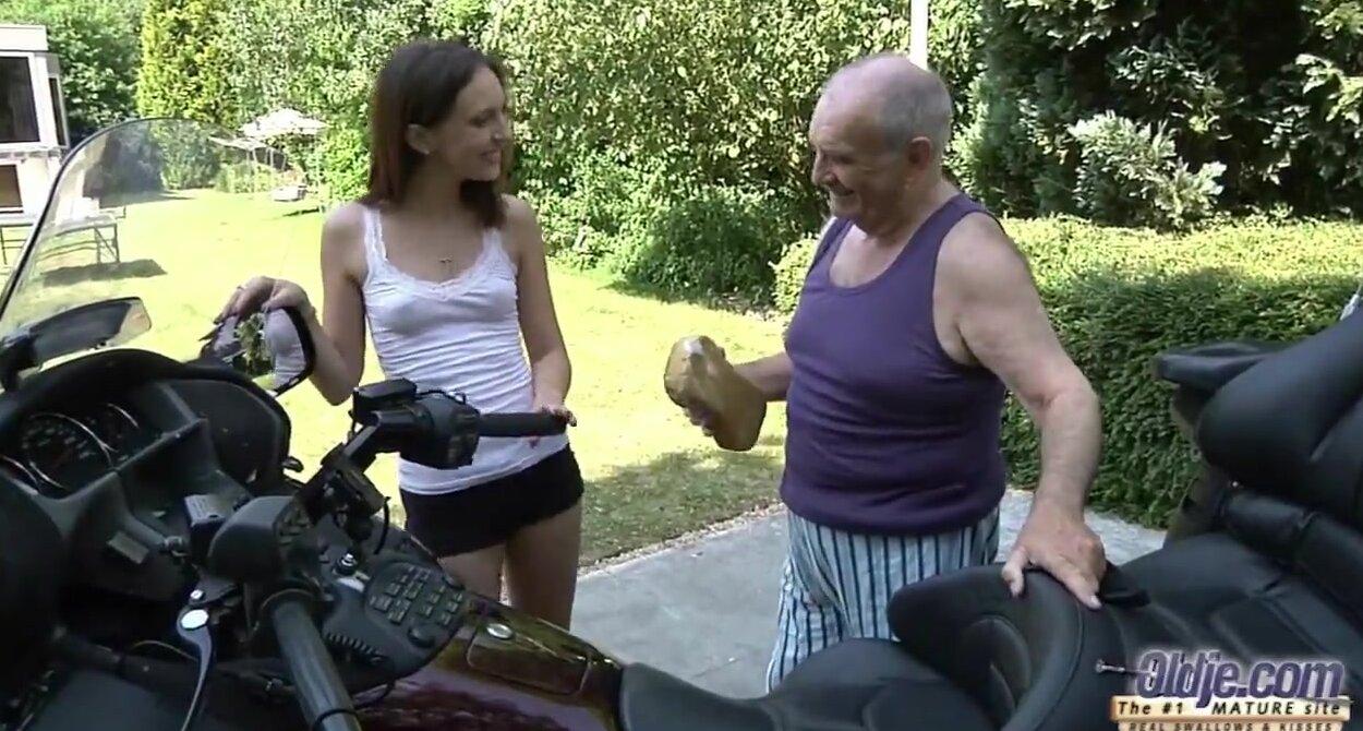 Horny Grandpa Fucks Teen