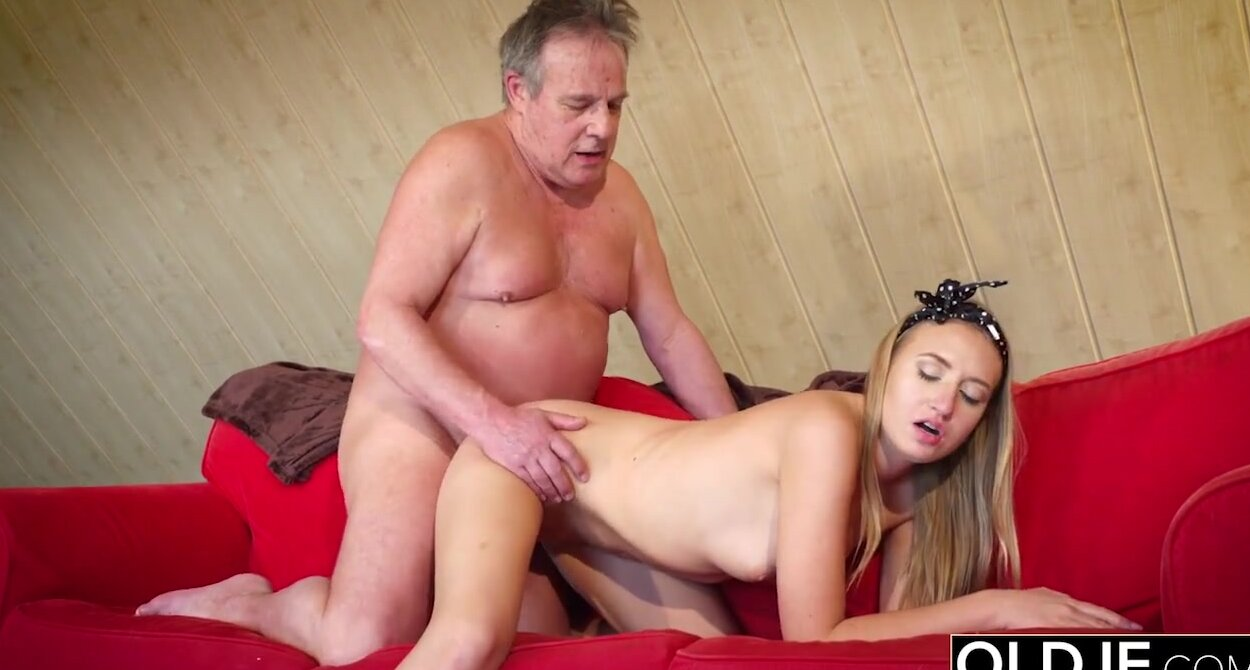 Young Girl Old Man Cum Swallow